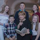 Book for Christmas: Kathleen Watkins with her grandchildren Kate and Harry Carney and Cian, Saoirse and Sadhbh O'Byrne at the launch of her book 'The Ordinary Woman and Other Poems I Love'. Photo: Arthur Carron
