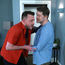 Cristiano (Rodrigo Ternevoy) is beaten by Will (John Cronin) in Fair City, RTE.