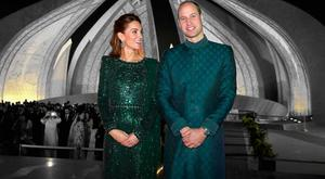Prince William, Duke of Cambridge and Catherine, Duchess of Cambridge attend a special reception hosted by the British High Commissioner Thomas Drew, at the Pakistan National Monument, during day two of their royal tour of Pakistan on October 15, 2019 in Islamabad, Pakistan. (Photo by Chris Jackson/Getty Images)