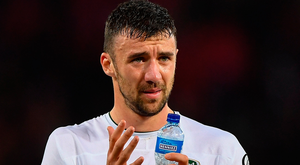 Ireland defender Enda Stevens was disappointed that his side's passing against Switzerland only seemed to improve after they went 1-0 down. Photo: Sportsfile