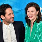 US actor Paul Rudd and Irish actress Aisling Bea arrive for the season one premiere of Netflix's