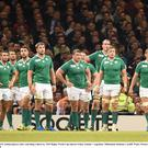 Ireland players dejected against Argentina in the quarter-final four years ago