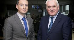 Kevin Doyle with Bertie Ahern. Picture By David Conachy