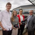 Irish Independent writer Cathal Dennehy, athlete Katie Kirk, Lisa Curtin of Investec and Investec CEO Michael Cullen at the presentation of the 20x20 media award