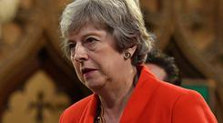 Softer option: Theresa May had negotiated a deal that promised more regulatory alignment. Picture: PA