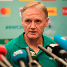 Ireland head coach Joe Schmidt during an Ireland rugby press conference at the Hilton Tokyo Bay in Urayasu, Aichi, Japan. Photo by Ramsey Cardy/Sportsfile