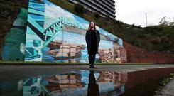 Changing times: Artwork showing the history of Sunderland. Photo: Scott Heppell