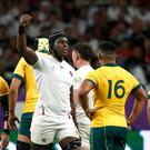 England's Maro Itoje reacts during the game