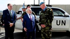 President Michael D Higgins pictured in Beirut earlier this week
