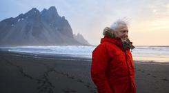 Sir David Attenborough on location filming Seven Worlds, One Planet (Alex Board)