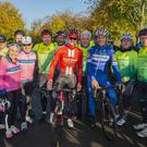 Sunday 20 October 2019. Photo: Douglas OConnor. Palmerstown House Estate, Nicholas Roche's The Project Cycle Series. The Indo Team with Nicholas Roche and Philipe Gilbert.