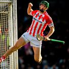 Seamus Harnedy celebrates after scoring Imokilly's second goal of the game. Photo: Eóin Noonan/Sportsfile