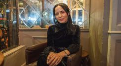 Andrea Corr at launch of her new book in Dawson St
