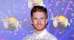 Neil Jones arriving at the red carpet launch of Strictly Come Dancing 2019, held at BBC TV Centre in London, UK (Ian West/PA)