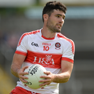 Daniel Heavron, pictured here in action for Derry, helped Rossa Gaels win the Derry SFC last Sunday