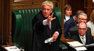 Controversy: Speaker John Bercow makes a statement in the House of Commons yesterday. Photo: JESSICA TAYLOR/UK PARLIAMENT/AFP via Getty Images
