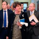 DUP leader Arlene Foster said it was a 'shameful day'. Photo: Niall Carson/PA Wire