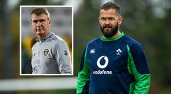 Andy Farrell and (inset) Stephen Kenny