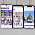 L-R – Samsung Galaxy Note 10 Plus, Google Pixel 4 XL, iPhone 11 Pro Max – photo: Adrian Weckler