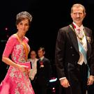 King Felipe of Spain and his wife Queen Letizia of Spain arrive at the Imperial Palace for the Court Banquets after the Ceremony of the Enthronement of Emperor Naruhito on October 22, 2019 in Tokyo, Japan. (Photo by PIERRE EMMANUEL DELETREE/Pool/Getty Images)