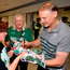 Ireland head coach Joe Schmidt is greeted by supporters on the Ireland rugby team's return at Dublin Airport from the World Cup in Japan. Photo: David Fitzgerald/Sportsfile