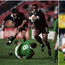 Jonah Lomu (left) in action for New Zealand against Ireland at the 1995 World Cup and Jack Goodhue playing against Joe Schmidt's side in the 2019 quarter-final.