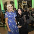 At the shortlist announcement for the An Post Irish Book Awards were ( L to R) Miriam O'Callaghan and Andrea Corr. Photo: Douglas O'Connor