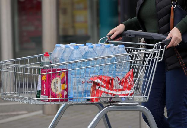 'Shops continued to experience heavy demand for bottled water ' Picture: Colin Keegan, Collins Dublin