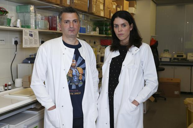Dr Martin Pule and Dr Claire Roddie of UCL Cancer Institute in London. Photo by Gerry McManus