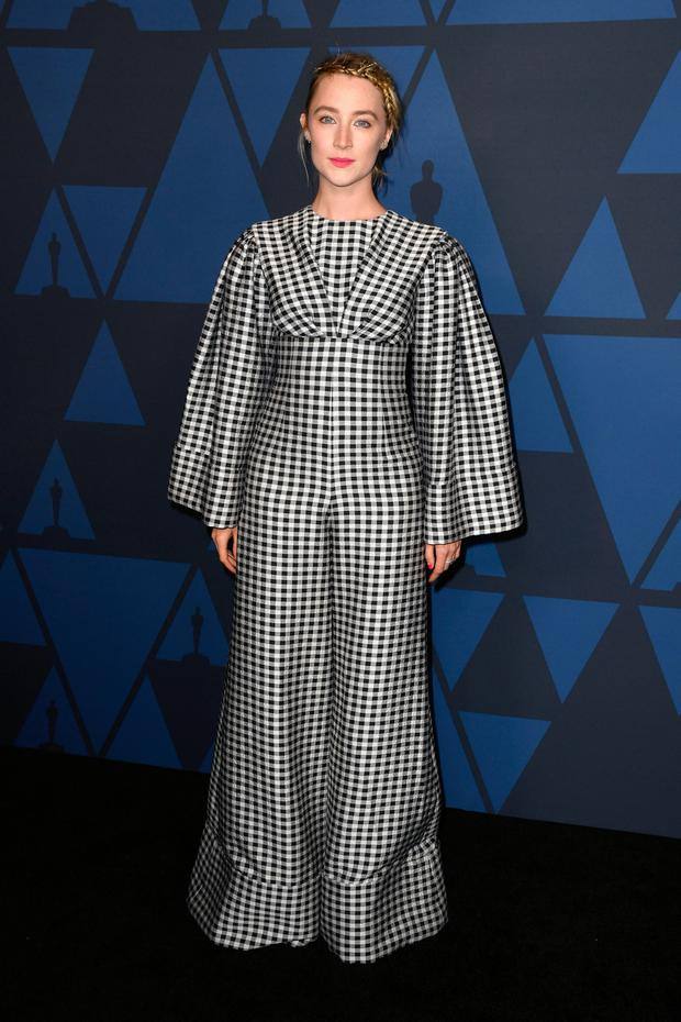 Saoirse Ronan attends the Academy Of Motion Picture Arts And Sciences' 11th Annual Governors Awards at The Ray Dolby Ballroom at Hollywood & Highland Center on October 27, 2019 in Hollywood, California. (Photo by Kevin Winter/Getty Images)