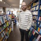 Bookish: Cian Byrne of the Maynooth Bookshop believes books, like vinyl records, are making a comeback. Photo: Fergal Phillips