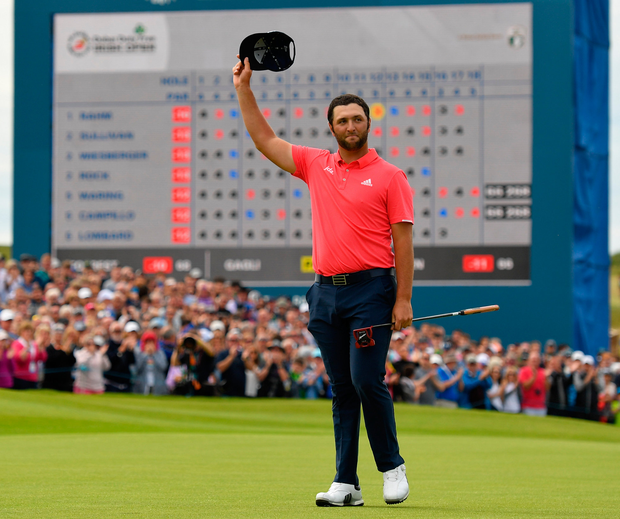 Spain's Jon Rahm has already committed to defending his Irish Open title next year but organisers will be desperate to add more of golf's biggest names for the 2020 tournament in Mount Juliet. Photo: Sportsfile