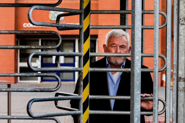 Free: John Gilligan leaves Coleraine Magistrates' Court after the case against him was dismissed. Photo: Liam McBurney/PA