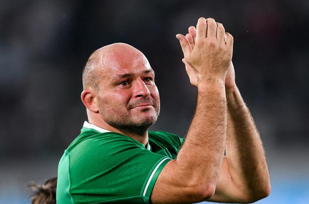 Mako Vunipola Rory Best after his final game