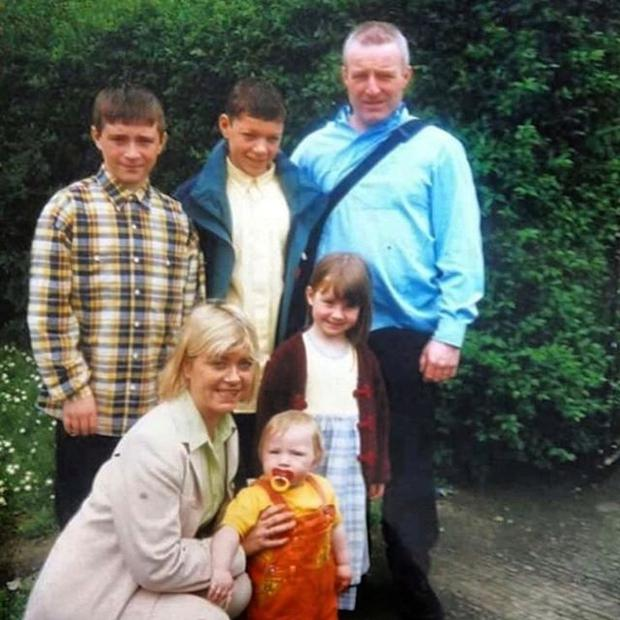 Jack as a baby with his mother Jackie, brothers Anthony and Stephen, sister Jodie and father John