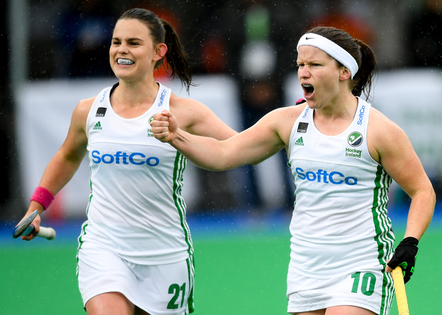 Lizzie Colvin (left) and Shirley McCay have their sights set on Tokyo. Photo: Sportsfile