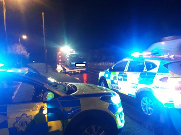 Gardaí at a checkpoint as part of Operation Surround.