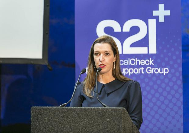 CAMPAIGNER: Vicky Phelan at the launch of 221+ Cervical Check Patient Support Group, at Farmleigh, Dublin