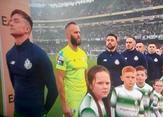 Alan Mannus refused to face the Irish tricolour during the playing of the national anthem at Sunday's FAI Cup final