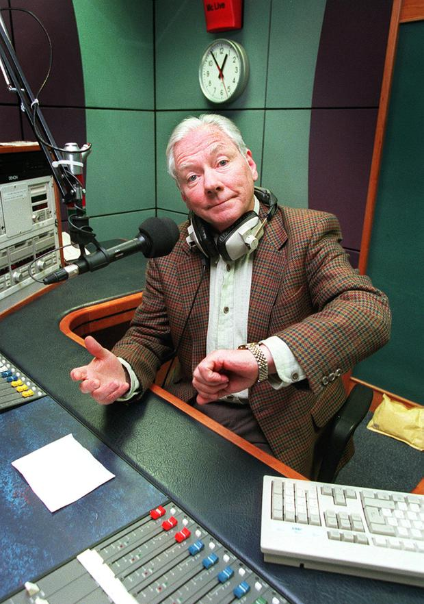 GAY BYRNE, PICTURED HERE IN STUDIO....