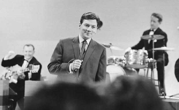 Gay Byrne on 'The Late Late Show' set in 1966.