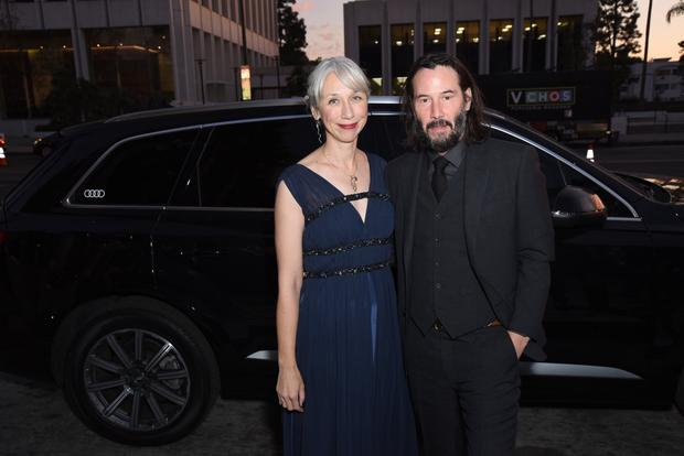 Alexandra Grant and Keanu Reeves attend the 2019 LACMA Art + Film Gala Presented By Gucci at LACMA on November 02, 2019 in Los Angeles, California. (Photo by Presley Ann/Getty Images for Audi)