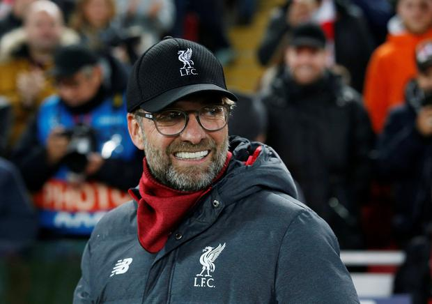 Soccer Football - Champions League - Group E - Liverpool v KRC Genk - Anfield, Liverpool, Britain - November 5, 2019 Liverpool manager Juergen Klopp REUTERS/Andrew Yates