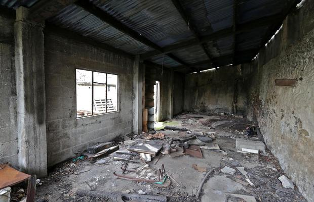 One of the rooms in the derelict building. Photo: Collins