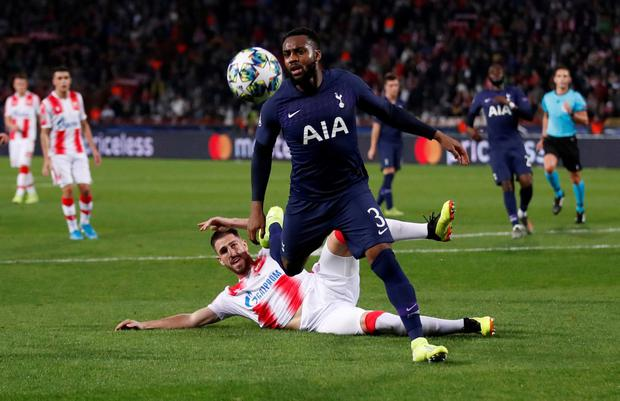 Tottenham Hotspur's Danny Rose in action. Photo: Andrew Boyers/Action Images via Reuters