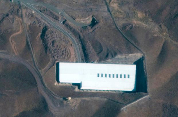Satellite image showing the Fordow nuclear facility, just north of the holy city of Qom in Iran. Photo: Maxar Technologies via AP