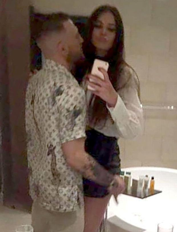 Terri Murray takes a selfie of her and McGregor in Liverpool
