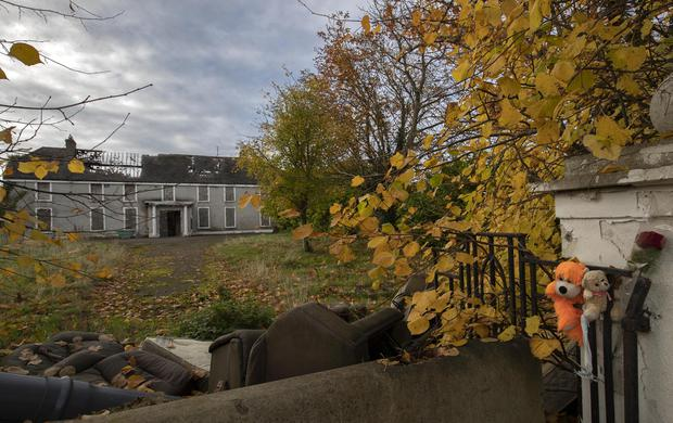 Crime scene: Derelict Glenwood House in Laraghcon, Lucan, where two boys murdered Ana Kriegel in May 2018. Photo: Colin Keegan