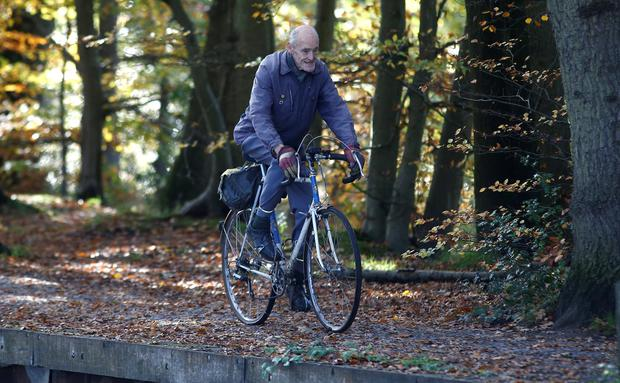 Saddle up: Russ Mantle plans to cycle until he is 100. Photo: REUTERS/Peter Nicholls
