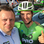 Morgan Fox, pictured with EvoPro Racing rider Aaron Gate, has high ambitions to join cycling's elite
